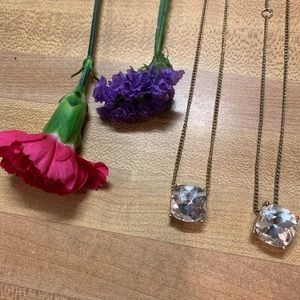 Faux diamond necklaces